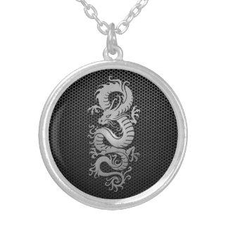 Steel Mesh Chinese Dragon Pendant