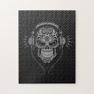 Steel Mesh DJ Sugar Skull Jigsaw Puzzle