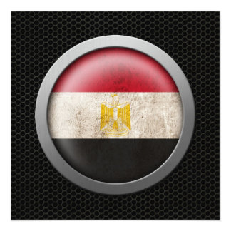Steel Mesh Egyptian Flag Disc Graphic Announcement