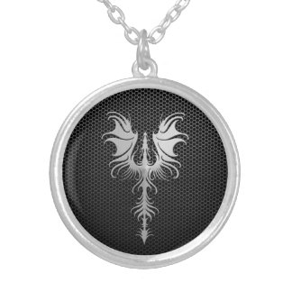 Steel Mesh Gothic Dragon Personalized Necklace