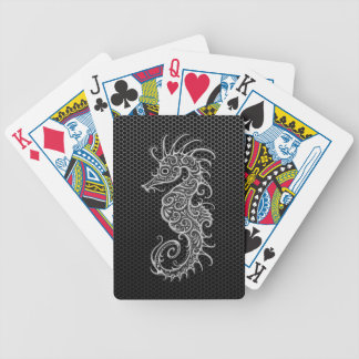 Steel Mesh Seahorse Bicycle Playing Cards
