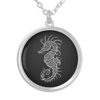 Steel Mesh Seahorse Pendant