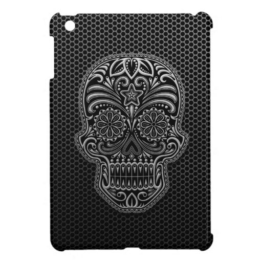 Steel Mesh Sugar Skull Case For The iPad Mini