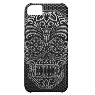 Steel Mesh Sugar Skull iPhone 5C Case