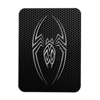 Steel Mesh Tribal Spider Rectangular Photo Magnet