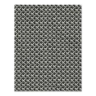 Steel Metal Mesh Pattern (faux) 11 Cm X 14 Cm Invitation Card