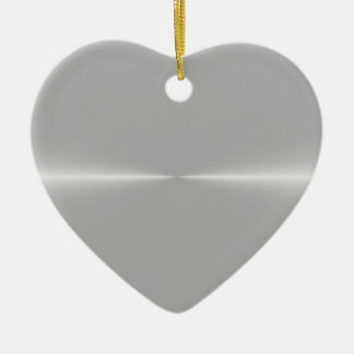 Steel Metallic Background Ceramic Heart Decoration