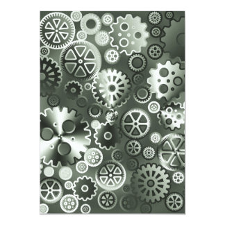 Steel metallic gears card