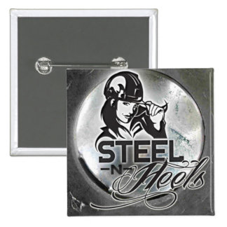 Steel N Heels Square Button