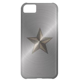 Steel Nautical Star iPhone 5C Cases