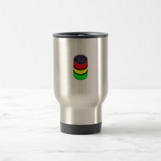 Steel Pan Rasta colors Steel Drum Design Graphic Travel Mug