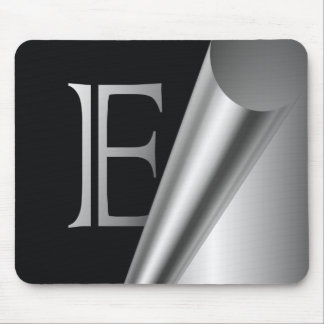 "Steel Peel Monogram ""E"" Mouse Mat"