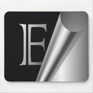 "Steel Peel Monogram ""E"" Mouse Pad"