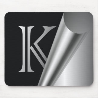 "Steel Peel Monogram ""K"" Mouse Mat"