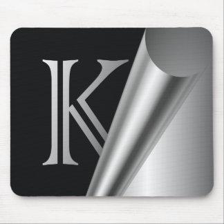 "Steel Peel Monogram ""K"" Mouse Pad"