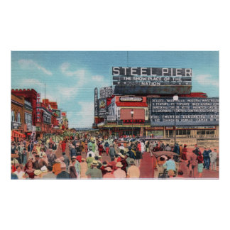 Steel Pier - Atlantic City Poster