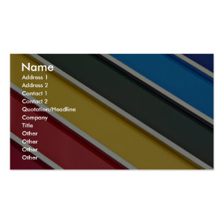 Steel rods on multicolored acrylic business card templates