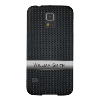 Steel striped dark metal galaxy s5 covers