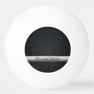 Steel striped dark metal ping pong ball