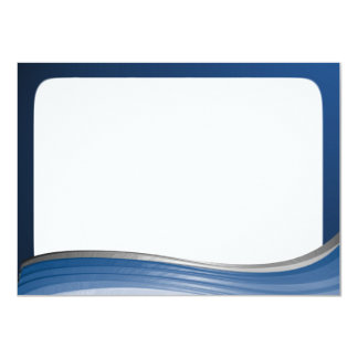 Steel Wave Thank You Flat Note 11 Cm X 16 Cm Invitation Card