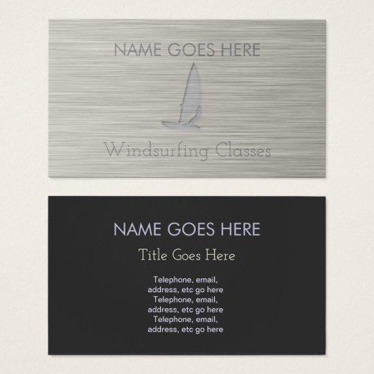 """Steel"" Windsurfer Business Cards"