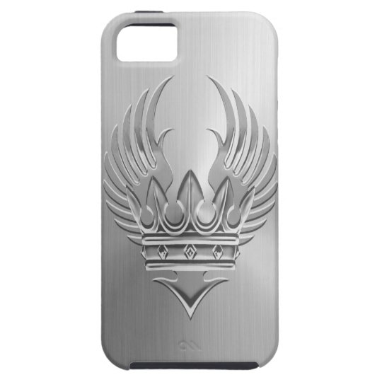 Steel Winged Crown iPhone 5 Covers