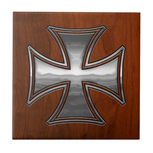 Steel Wood Maltese Tiles
