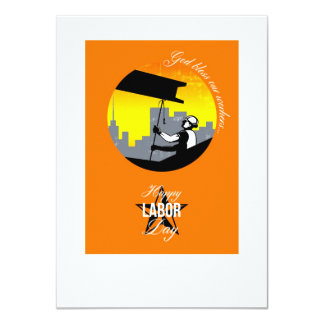 Steel Worker Happy Labor Day Greeting Card Poster 11 Cm X 16 Cm Invitation Card