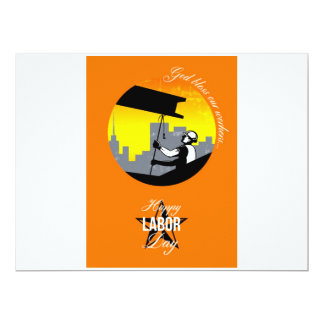 Steel Worker Happy Labor Day Greeting Card Poster 17 Cm X 22 Cm Invitation Card