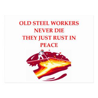 steel worker postcard