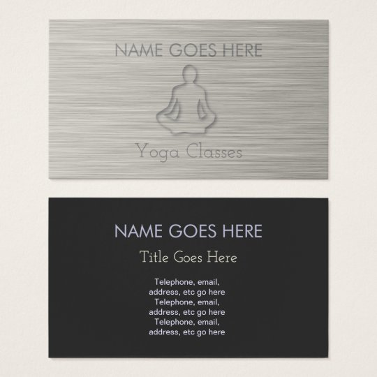 """Steel"" Yoga Business Cards"