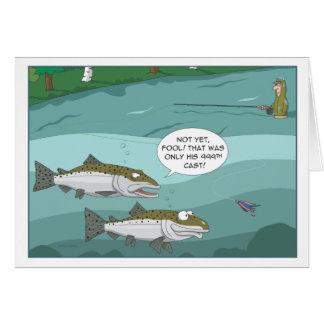 Steelhead Fish of 1000 casts Greeting Card
