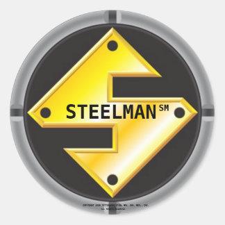 STEELMAN'S LOGO CLASSIC ROUND STICKER