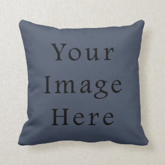 Steely Dark Blue Color Trend Blank Template Cushions