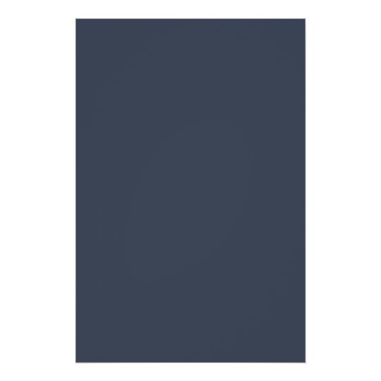 Steely Dark Grey Blue Solid Trend Colour Poster
