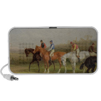 Steeplechasing: At the Start (oil on canvas) iPhone Speaker