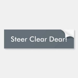 Steer clear dear bumper sticker