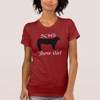 steer cow, SCHS, Show Girl T-shirt