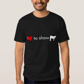 steer cow white, Heart, I, to show Shirts