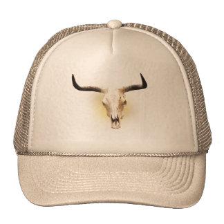 steer skull hat