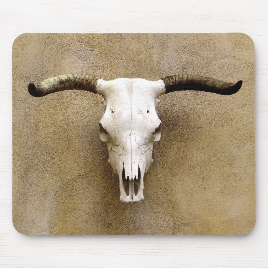 steer skull mouse pad