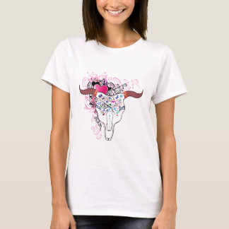Steer Skull Tattoo Top with Pins