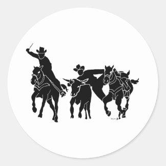 Steer Wrestling 1 Sticker