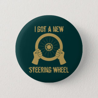 Steering wheel 6 cm round badge