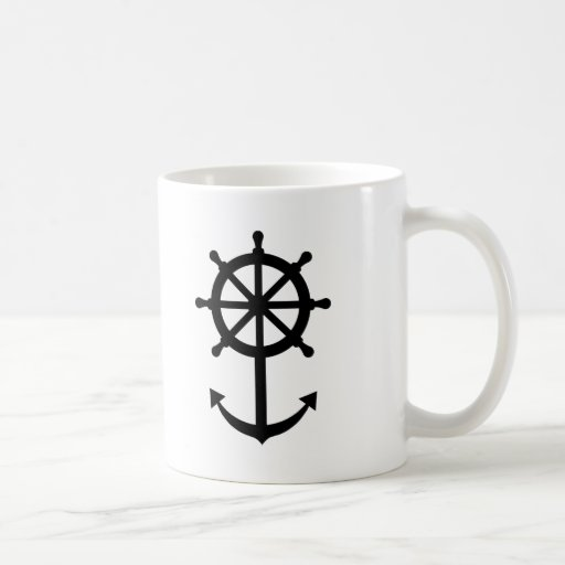 Steering wheel anchor coffee mug