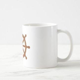 Steering wheel - ship basic white mug