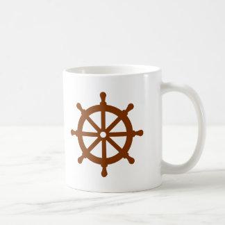 Steering wheel - ship coffee mugs