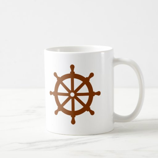 Steering wheel - ship coffee mugs