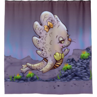 STEFFY CUTE ALIEN  Shower Curtain