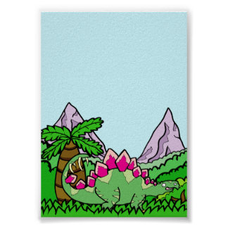Stegasaurus Dinosaur Poster